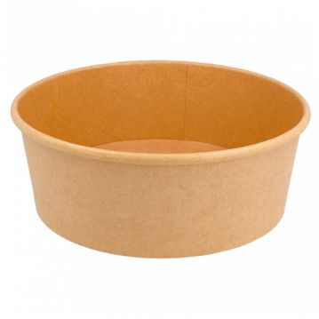 Cardboard Salad bowl Kraft 1300ml 184x160x66mm Box 300