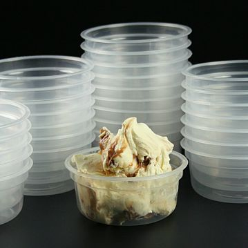 Plastic Bowl Transparent M-150 Box 1088