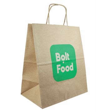 Brown Paper Bag with Twisted Handle 270x160x310mm Bolt Food 250pcs